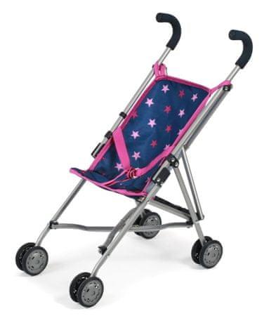 Bayer Chic Mini-Buggy ROMA kék - rózsaszín csillagos