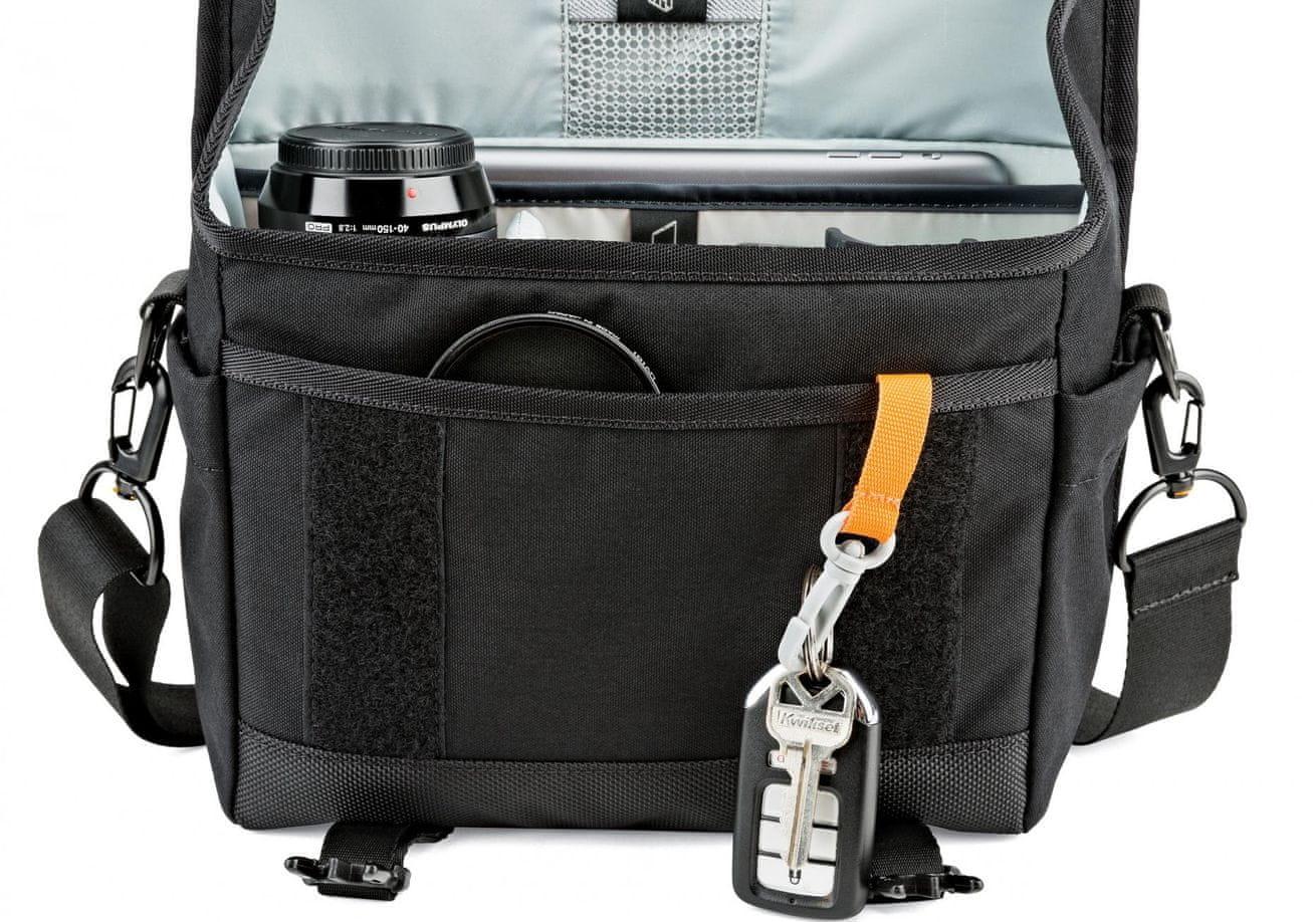 brašna přes rameno na foťák Lowepro M-Trekker SH 150 grey E61PLW37162 boční kapsy karabina na klíče