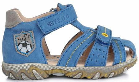 D-D-step Chlapecké sandály s míčem, modrá, vel. 24 - použité