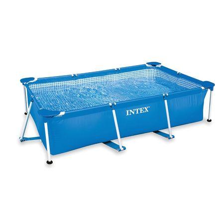 Intex bazen Metal Frame, 220 x 150 x 60 cm, brez filtracije (28270NP)