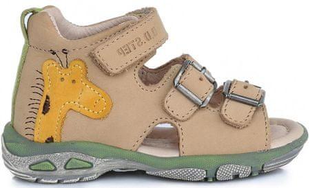 D-D-step sandały chłopięce z żyrafą 19 brązowe