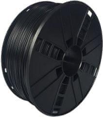 Gembird tisková struna (filament), flexibilní, 1,75mm, 1kg, černá (3DP-TPE1.75-01-BK)