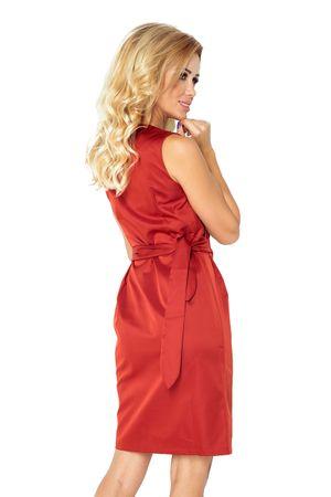 9390a95ec Numoco Dámske šaty 126-4, červeno-oranžová, S | MALL.SK