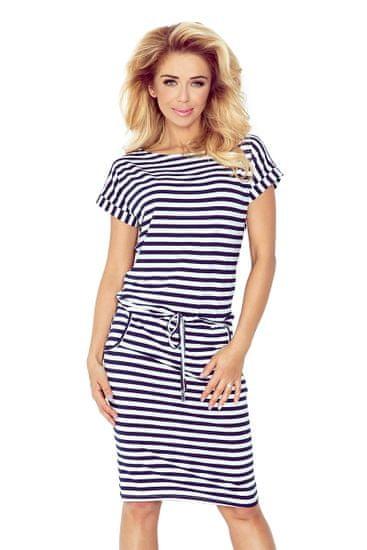 Numoco Dámske šaty 139-2, bielo-modrá, L
