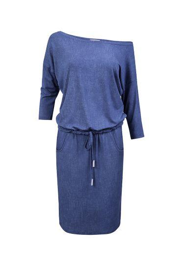 Numoco Dámske šaty 13-20 + Nadkolienky Sophia 2pack visone, svetlo modrá džínsovina, M
