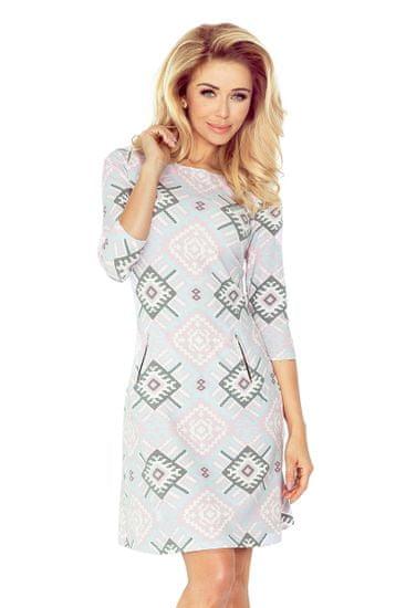Numoco Dámske šaty 38-21 + Nadkolienky Sophia 2pack visone, viacfarebná, XL