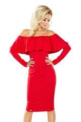 Numoco Šaty s dlouhým rukávem červené