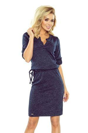 Numoco Női ruha 161-8 + Nőin zokni Sophia 2pack visone, sötét kék, L