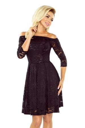 Numoco Dámske šaty 168-1, čierna, S