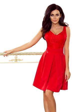 Numoco Sukienka damska 208-2, czerwony, S
