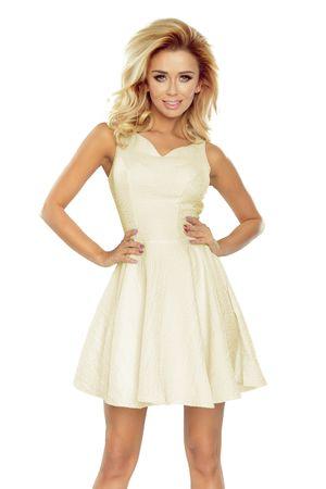 Numoco Dámské šaty 187-1, krémová, XL