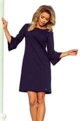Numoco Šaty s krajkou na rukávech tmavě modré