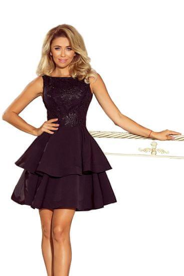 Numoco Dámske šaty 206-2, čierna, S