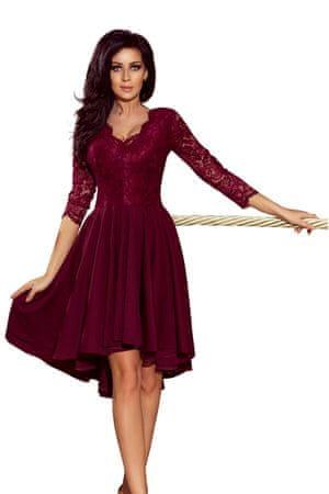 Numoco Ženska obleka 210-1, bordó, S