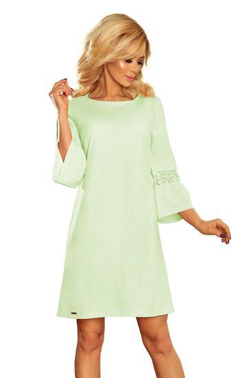Numoco Dámské šaty 190-9 + Ponožky Sophia 2pack visone, zelená, S