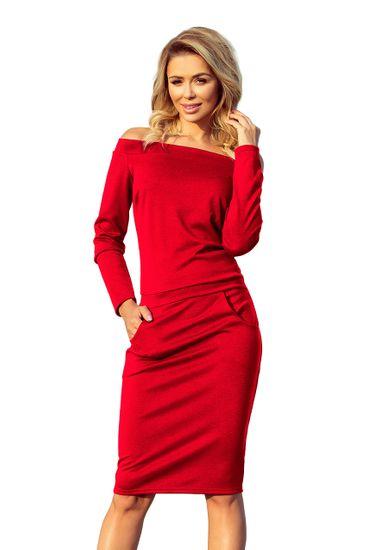 Numoco Dámske šaty 225-3 + Nadkolienky Sophia 2pack visone, červená, S