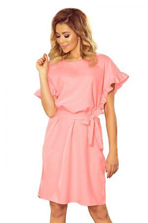 Numoco Női ruha 229-1, púder rózsaszín, L