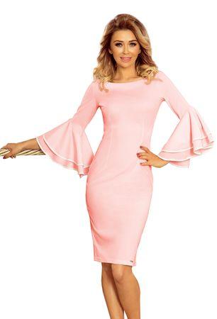 Numoco Női ruha 188-4, púder rózsaszín, L