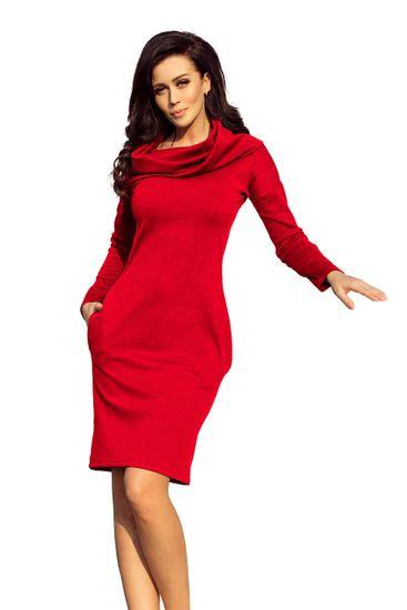 Numoco Dámske šaty 131-9 + Nadkolienky Sophia 2pack visone, červená, XL