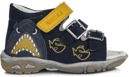 D-D-step fantovski sandali z morskim psom, 19, modri
