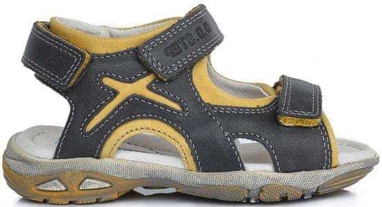 D-D-step chlapčenské sandále 35 sivá