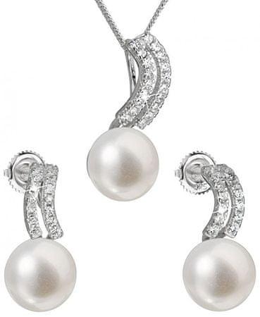 Evolution Group Set srebrnega nakita s pravimi biseri Pavona 29037.1 (uhani, veriga, obesek) srebro 925/1000