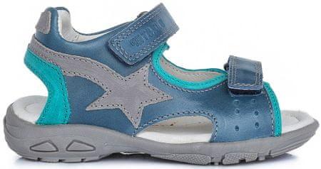 D-D-step sandale za dječake sa zvijezdom, 28, plave
