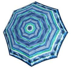 Doppler Dámsky skladací vystreľovací dáždnik Fiber Havanna AC Capri - modrý 720465CA02