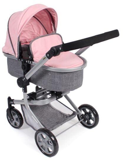 Bayer Chic Kombinovaný kočárek MIKA šedivo-růžová