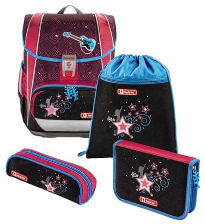 Step by Step Iskolai táska LIGHT 2 első osztályosok számára - 4 részes készlet, Popstar, tanúsítvány AGR