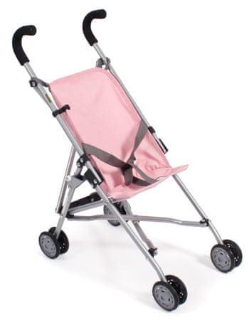 Bayer Chic Mini-Buggy ROMA szürke-rózsaszín