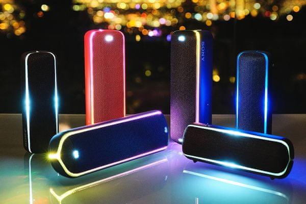cool bezprzewodowy głośnik sony srsxb22 bluetooth nfc wireless party chain zasięg 10 m połączenie z aż 100 głośnikami