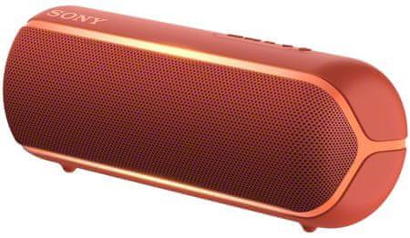 Sony SRS-XB22 prijenosni Bluetooth zvučnik, crvena