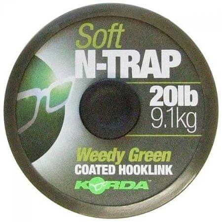 Korda Náväzcová Šnúrka N-Trap Soft Green 20 m 30 lb, 13,6 kg