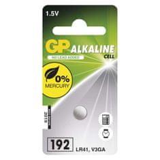 GP alkalna gumbna baterija LR41 (192), 1 blister