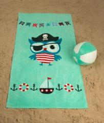 Jules Clarysse NV dziecięcy ręcznik plażowy Sowa Pirat Jack