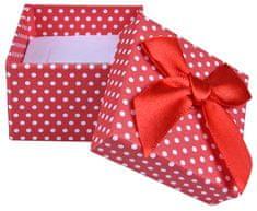 Jan KOS Czerwone pudełko polka dot Kolczyki i pierścień KK-3 / A7