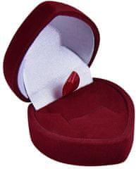 Jan KOS Bordó dárková krabička na náušnice nebo prsten F-75/A10