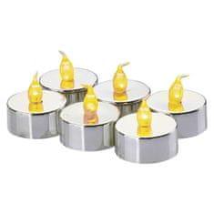 Emos LED dekoracija - 6x čajna svečka srebrna, 6x CR2033