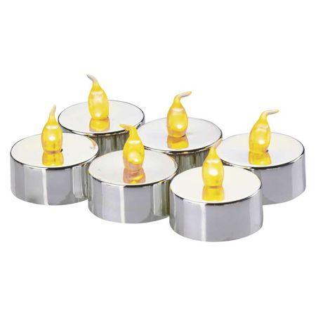 EMOS LED dekoracija - 6x čajna svijeća srebrna, 6x CR2033