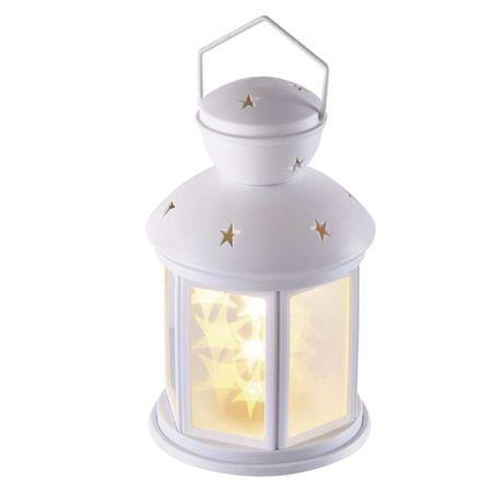 Emos LED dekoracija - lanterna z 3D zvezdami, 3AA, timer