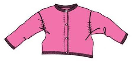 Carodel dívčí svetr 62 světle růžová
