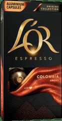 L'Or Colombia 10 Intenzita 8 - 10 ks hliníkových kapsúl