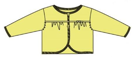 Carodel dívčí svetr 86 žlutá