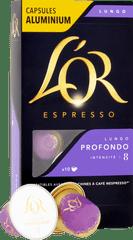 L'Or Lungo Intenso Intenzita 8 - 10 ks hliníkových kapsúl