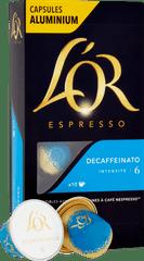 L'Or Espresso Decaffeinato Intenzita 6 - 10 ks hliníkových kapslí