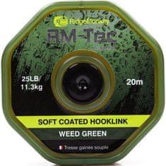 RIDGEMONKEY Návazcová Šnúrka RM Tec Soft Coated Hooklink 20 m Zelená