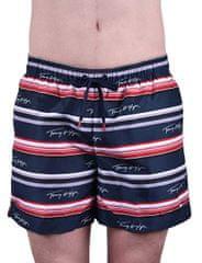 Tommy Hilfiger Plavkové kraťasy Medium Drawstring UM0UM01071-444 Logo Prt Navy Blaze r