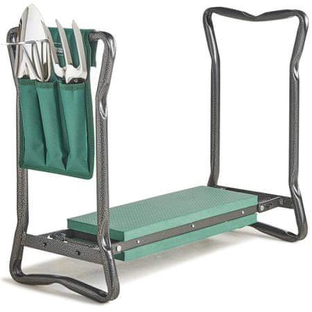 VonHaus 2v1 klečalnik in pručka za sedenje + set orodja