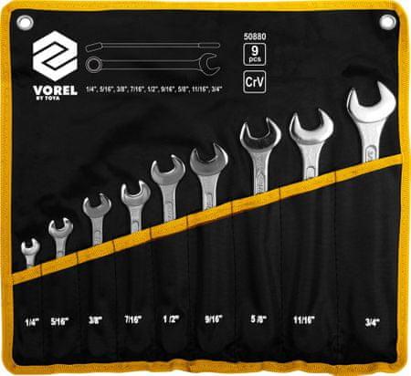 Vorel Kombinált csavarkulcs készlet 9 db 1-4 mm